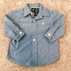 NWOT Nautica Baby Button Down 6-9 Months